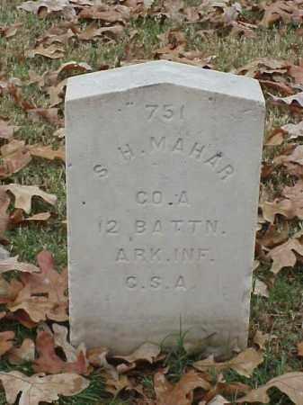 MAHAR (VETERAN CSA), S H - Pulaski County, Arkansas | S H MAHAR (VETERAN CSA) - Arkansas Gravestone Photos