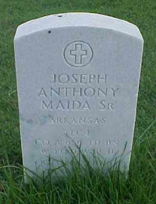 MAIDA, SR (VETERAN WWII), JOSEPH ANTHONY - Pulaski County, Arkansas | JOSEPH ANTHONY MAIDA, SR (VETERAN WWII) - Arkansas Gravestone Photos
