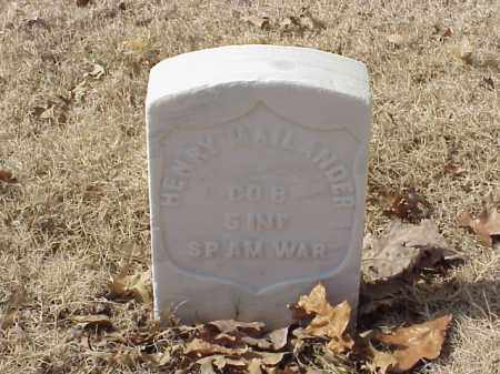 MAILANDER (VETERAN SAW), HENRY - Pulaski County, Arkansas | HENRY MAILANDER (VETERAN SAW) - Arkansas Gravestone Photos