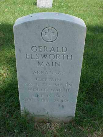 MAIN (VETERAN WWII), GERALD ELSWORTH - Pulaski County, Arkansas | GERALD ELSWORTH MAIN (VETERAN WWII) - Arkansas Gravestone Photos
