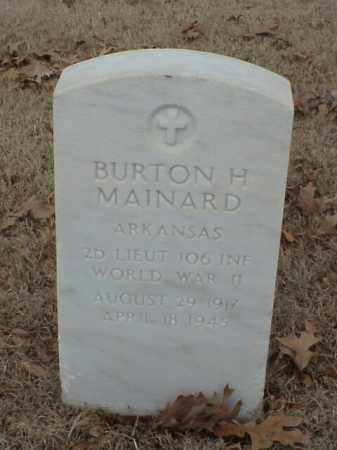 MAINARD (VETERAN WWII), BURTON H - Pulaski County, Arkansas | BURTON H MAINARD (VETERAN WWII) - Arkansas Gravestone Photos