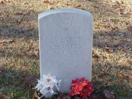 MAINE (VETERAN 3 WARS), EVERETT CHARLES - Pulaski County, Arkansas | EVERETT CHARLES MAINE (VETERAN 3 WARS) - Arkansas Gravestone Photos