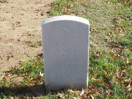 MALIN (VETERAN WWI), RALPH - Pulaski County, Arkansas | RALPH MALIN (VETERAN WWI) - Arkansas Gravestone Photos