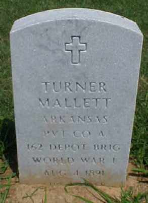 MALLETT (VETERAN WWI), TURNER - Pulaski County, Arkansas | TURNER MALLETT (VETERAN WWI) - Arkansas Gravestone Photos