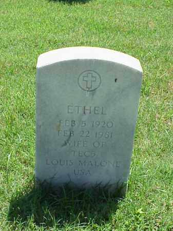 MALONE, ETHEL - Pulaski County, Arkansas | ETHEL MALONE - Arkansas Gravestone Photos