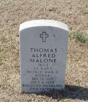 MALONE (VETERAN 2 WARS), THOMAS ALFRED - Pulaski County, Arkansas | THOMAS ALFRED MALONE (VETERAN 2 WARS) - Arkansas Gravestone Photos
