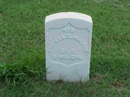 MALONE (VETERAN UNION), THOMAS G - Pulaski County, Arkansas | THOMAS G MALONE (VETERAN UNION) - Arkansas Gravestone Photos