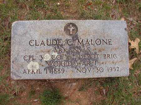 MALONE (VETERAN WWI), CLAUDE C - Pulaski County, Arkansas | CLAUDE C MALONE (VETERAN WWI) - Arkansas Gravestone Photos