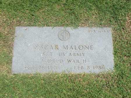 MALONE (VETERAN WWII), OSCAR - Pulaski County, Arkansas | OSCAR MALONE (VETERAN WWII) - Arkansas Gravestone Photos
