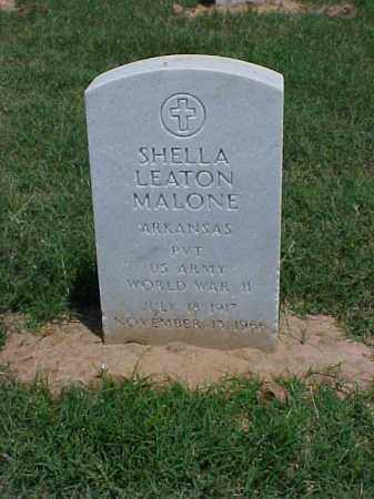 MALONE (VETERAN WWII), SHELLA LEATON - Pulaski County, Arkansas | SHELLA LEATON MALONE (VETERAN WWII) - Arkansas Gravestone Photos