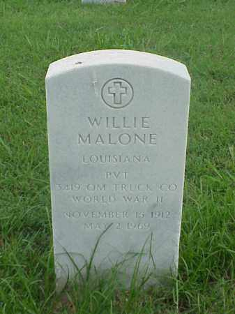MALONE (VETERAN WWII), WILLIE - Pulaski County, Arkansas | WILLIE MALONE (VETERAN WWII) - Arkansas Gravestone Photos