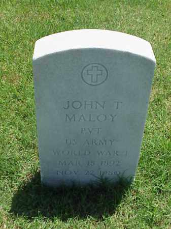 MALOY (VETERAN WWI), JOHN T - Pulaski County, Arkansas | JOHN T MALOY (VETERAN WWI) - Arkansas Gravestone Photos