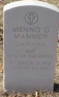 MAMMEN  (VETERAN), MENNO G - Pulaski County, Arkansas | MENNO G MAMMEN  (VETERAN) - Arkansas Gravestone Photos
