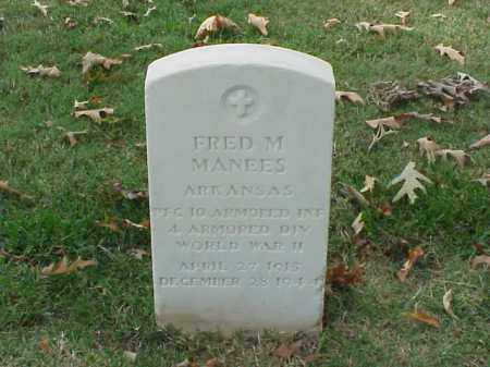 MANEES VETERAN  WWII), FRED M - Pulaski County, Arkansas | FRED M MANEES VETERAN  WWII) - Arkansas Gravestone Photos