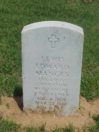MANGES (VETERAN 2 WARS), LEWIS EDWARD - Pulaski County, Arkansas | LEWIS EDWARD MANGES (VETERAN 2 WARS) - Arkansas Gravestone Photos
