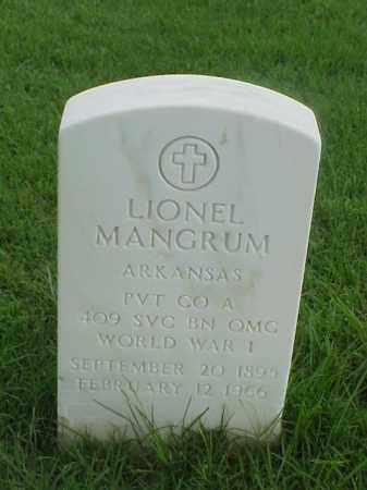 MANGRUM (VETERAN WWI), LIONEL - Pulaski County, Arkansas | LIONEL MANGRUM (VETERAN WWI) - Arkansas Gravestone Photos