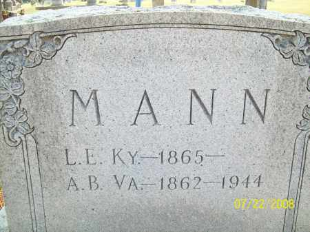 MANN, A.B. - Pulaski County, Arkansas | A.B. MANN - Arkansas Gravestone Photos