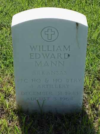 MANN (VETERAN VIET), WILLIAM EDWARD - Pulaski County, Arkansas | WILLIAM EDWARD MANN (VETERAN VIET) - Arkansas Gravestone Photos