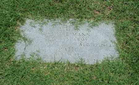 MANN, MABEL - Pulaski County, Arkansas | MABEL MANN - Arkansas Gravestone Photos