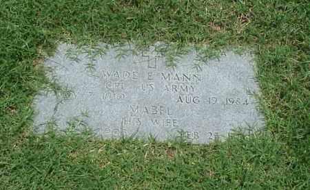 MANN (VETERAN WWII), WADE E - Pulaski County, Arkansas | WADE E MANN (VETERAN WWII) - Arkansas Gravestone Photos