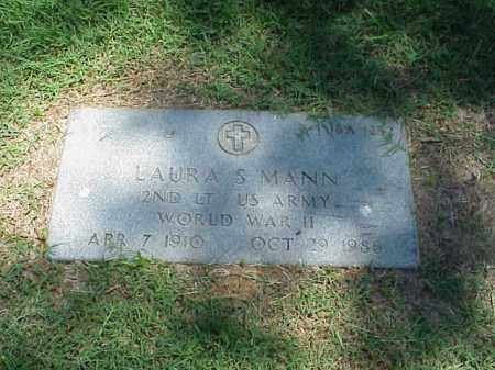 MANN (VETERAN WWII), LAURA S - Pulaski County, Arkansas | LAURA S MANN (VETERAN WWII) - Arkansas Gravestone Photos