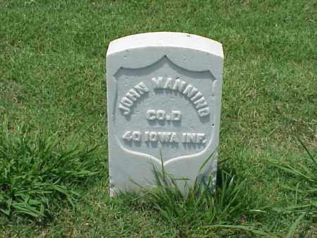 MANNING (VETERAN UNION), JOHN - Pulaski County, Arkansas | JOHN MANNING (VETERAN UNION) - Arkansas Gravestone Photos