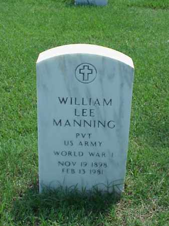 MANNING (VETERAN WWI), WILLIAM LEE - Pulaski County, Arkansas | WILLIAM LEE MANNING (VETERAN WWI) - Arkansas Gravestone Photos