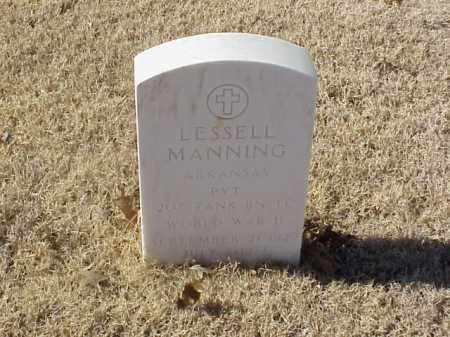 MANNING (VETERAN WWII), LESSELL - Pulaski County, Arkansas | LESSELL MANNING (VETERAN WWII) - Arkansas Gravestone Photos