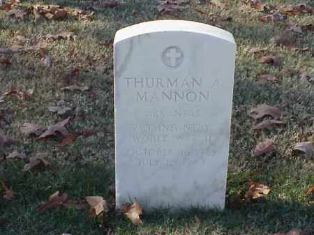 MANNON (VETERAN WWII), THURMAN A - Pulaski County, Arkansas | THURMAN A MANNON (VETERAN WWII) - Arkansas Gravestone Photos