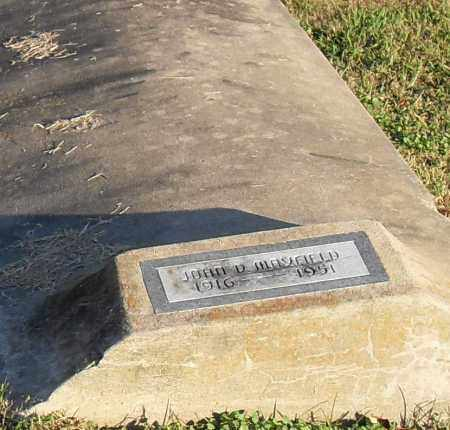 MANSFIELD, JOHN - Pulaski County, Arkansas | JOHN MANSFIELD - Arkansas Gravestone Photos