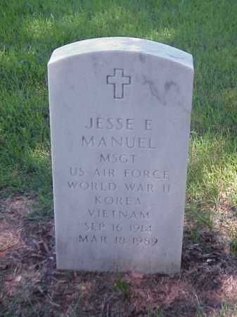 MANUEL (VETERAN 3 WARS), JESSE E - Pulaski County, Arkansas | JESSE E MANUEL (VETERAN 3 WARS) - Arkansas Gravestone Photos