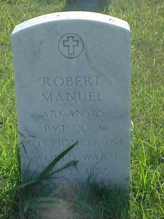 MANUEL (VETERAN WWI), ROBERT - Pulaski County, Arkansas | ROBERT MANUEL (VETERAN WWI) - Arkansas Gravestone Photos