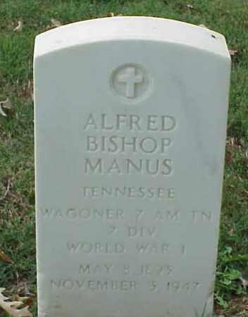 MANUS (VETERAN WWI), ALFRED BISHOP - Pulaski County, Arkansas | ALFRED BISHOP MANUS (VETERAN WWI) - Arkansas Gravestone Photos