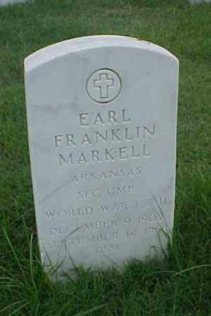 MARKELL (VETERAN 2 WARS), EARL FRANKLIN - Pulaski County, Arkansas | EARL FRANKLIN MARKELL (VETERAN 2 WARS) - Arkansas Gravestone Photos