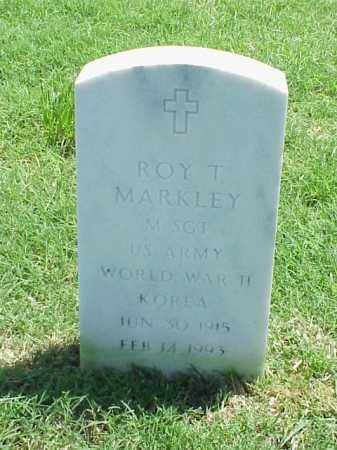 MARKLEY (VETERAN 2 WARS), ROY T - Pulaski County, Arkansas | ROY T MARKLEY (VETERAN 2 WARS) - Arkansas Gravestone Photos