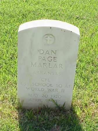 MARLAR (VETERAN WWII), DAN PAGE - Pulaski County, Arkansas | DAN PAGE MARLAR (VETERAN WWII) - Arkansas Gravestone Photos