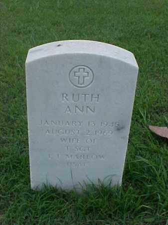 MARLOW, RUTH ANN - Pulaski County, Arkansas | RUTH ANN MARLOW - Arkansas Gravestone Photos