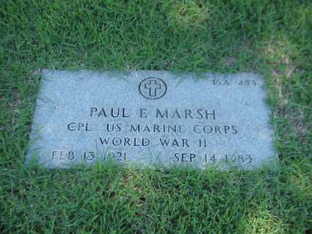 MARSH (VETERAN WWII), PAUL E - Pulaski County, Arkansas | PAUL E MARSH (VETERAN WWII) - Arkansas Gravestone Photos