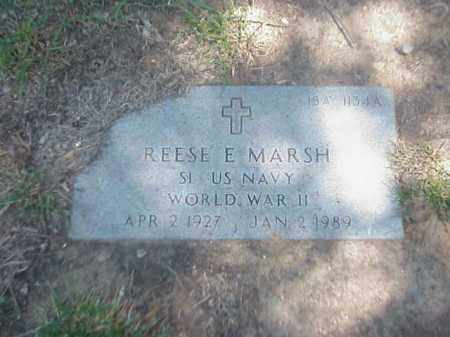 MARSH (VETERAN WWII), REESE E - Pulaski County, Arkansas | REESE E MARSH (VETERAN WWII) - Arkansas Gravestone Photos