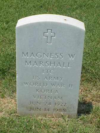 MARSHALL (VETERAN 3 WARS), MAGNESS W - Pulaski County, Arkansas | MAGNESS W MARSHALL (VETERAN 3 WARS) - Arkansas Gravestone Photos