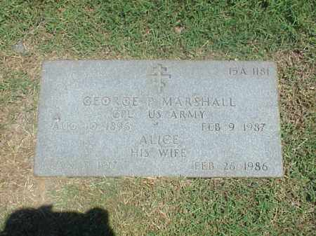 MARSHALL, ALICE - Pulaski County, Arkansas | ALICE MARSHALL - Arkansas Gravestone Photos
