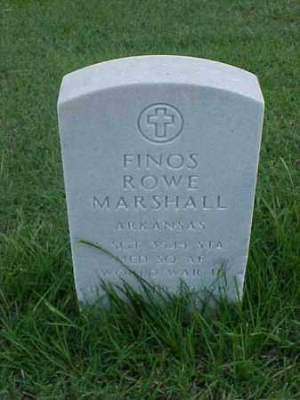 MARSHALL (VETERAN WWII), FINOS ROWE - Pulaski County, Arkansas | FINOS ROWE MARSHALL (VETERAN WWII) - Arkansas Gravestone Photos