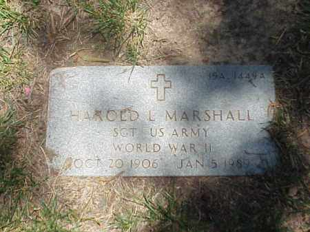 MARSHALL (VETERAN WWII), HAROLD L - Pulaski County, Arkansas | HAROLD L MARSHALL (VETERAN WWII) - Arkansas Gravestone Photos