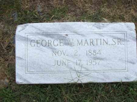 MARTIN,  SR., GEORGE  W. - Pulaski County, Arkansas | GEORGE  W. MARTIN,  SR. - Arkansas Gravestone Photos