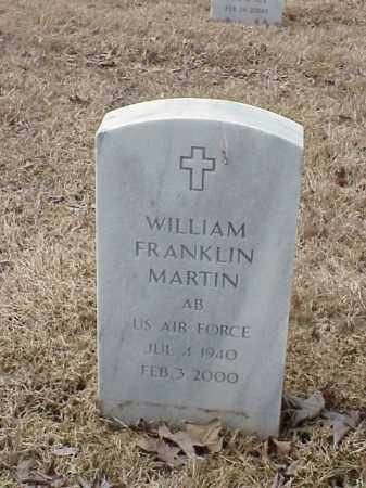 MARTIN  (VETERAN), WILLIAM FRANKLIN - Pulaski County, Arkansas | WILLIAM FRANKLIN MARTIN  (VETERAN) - Arkansas Gravestone Photos