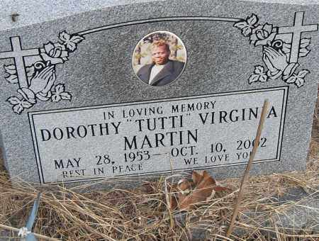 MARTIN, DOROTHY (TUTTI) VIRGINIA - Pulaski County, Arkansas | DOROTHY (TUTTI) VIRGINIA MARTIN - Arkansas Gravestone Photos