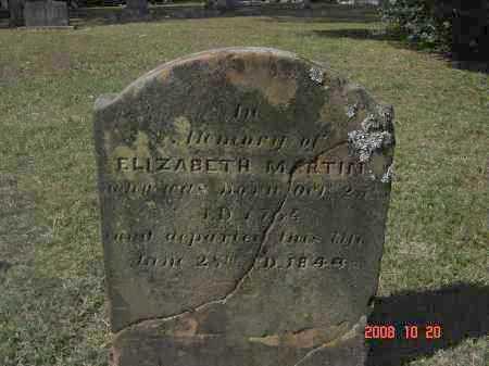 MARTIN, ELIZABETH - Pulaski County, Arkansas | ELIZABETH MARTIN - Arkansas Gravestone Photos