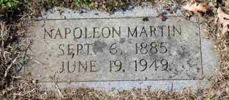 MARTIN, NAPOLEON BONAPARTE - Pulaski County, Arkansas | NAPOLEON BONAPARTE MARTIN - Arkansas Gravestone Photos