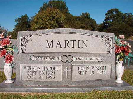 MARTIN, VERNON HAROLD - Pulaski County, Arkansas | VERNON HAROLD MARTIN - Arkansas Gravestone Photos