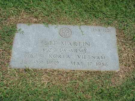 MARTIN (VETERAN 3 WARS), PETE - Pulaski County, Arkansas | PETE MARTIN (VETERAN 3 WARS) - Arkansas Gravestone Photos